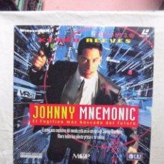 Cinema: LASER DISC - JOHNNY MNEMONIC EL FUGITIVO MAS BUSCADO DEL FUTURO KERNU REEVES . Lote 99301719