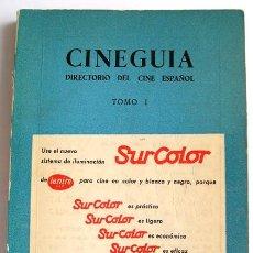 Cine: CINEGUÍA - DIRECTORIO PROFESIONAL DEL CINE ESPAÑOL 1965. Lote 99769223