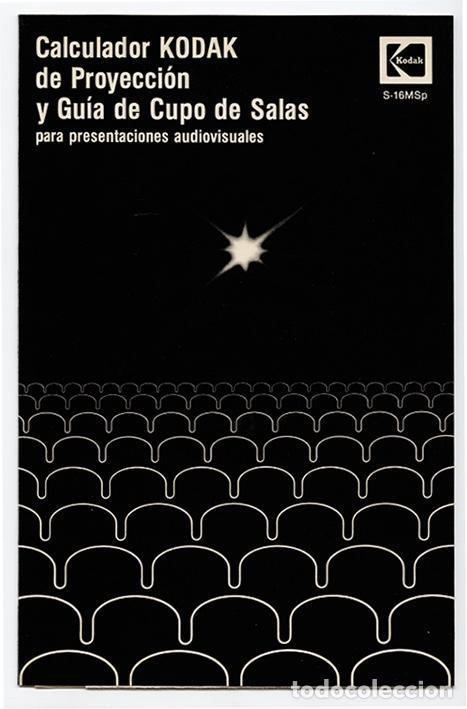 Cine: Calculador Kodak de proyección y guía de cupo de salas - Cuadríptico 1980 - Foto 2 - 100040107