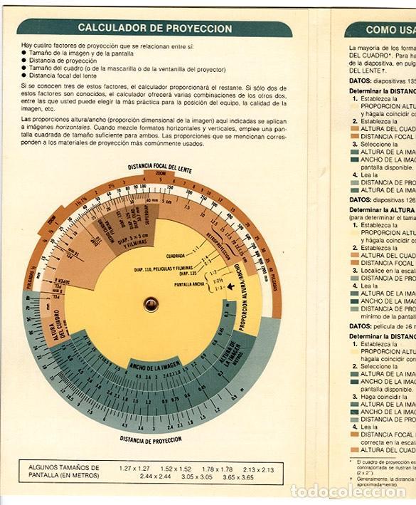Cine: Calculador Kodak de proyección y guía de cupo de salas - Cuadríptico 1980 - Foto 3 - 100040107