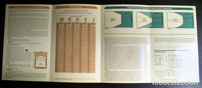 Cine: Calculador Kodak de proyección y guía de cupo de salas - Cuadríptico 1980 - Foto 5 - 100040107