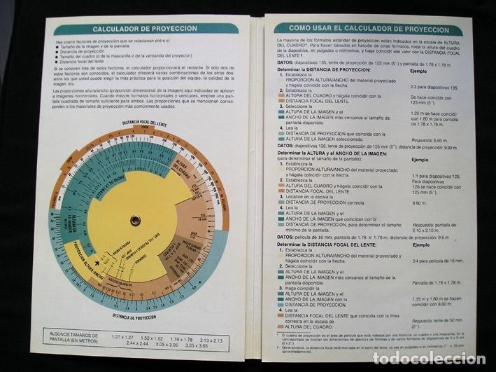 Cine: Calculador Kodak de proyección y guía de cupo de salas - Cuadríptico 1980 - Foto 6 - 100040107