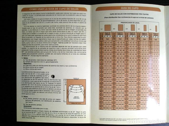 Cine: Calculador Kodak de proyección y guía de cupo de salas - Cuadríptico 1980 - Foto 7 - 100040107