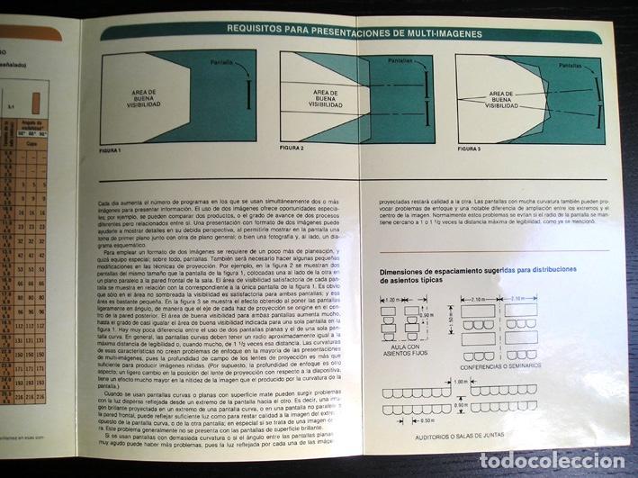 Cine: Calculador Kodak de proyección y guía de cupo de salas - Cuadríptico 1980 - Foto 8 - 100040107
