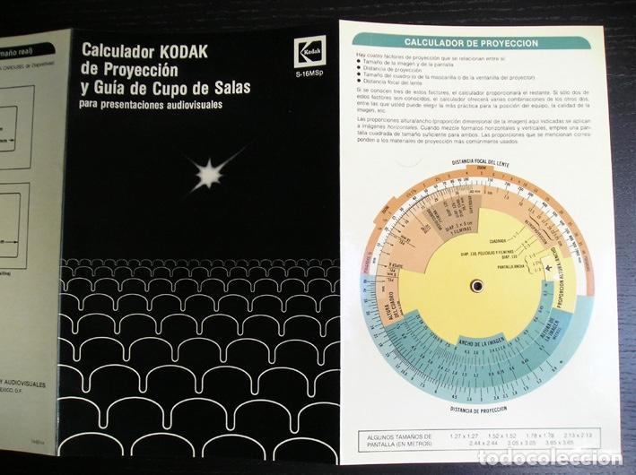 Cine: Calculador Kodak de proyección y guía de cupo de salas - Cuadríptico 1980 - Foto 11 - 100040107