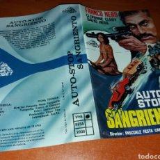 Cine: CARATULA VHS- AUTO-STOP SANGRIENTO. Lote 151909009
