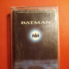 Cine: BATMAN CASSETTE ORIGINAL BANDA SONORA DE LA PELÍCULA - PERFECTO ESTADO. Lote 102293976