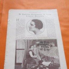 Cine: RECORTE 1928 - IRENE LOPEZ DE HEREDIA. Lote 103122139
