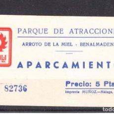 Cine: ,,,ENTRADA APARCAMIENTO PARQUE ATRACCIONES TIVOLI, ARROYO DE LA MIEL BENALMADENA (MALAGA). Lote 103446687