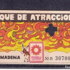 Cine: ,,,ENTRADA SERIE B PARQUE ATRACCIONES TIVOLI COSTA DEL SOL BENALMADENA (MALAGA) +. Lote 103446747