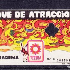Cine: ,,,ENTRADA SERIE C PARQUE ATRACCIONES TIVOLI COSTA DEL SOL BENALMADENA (MALAGA) +. Lote 103446927