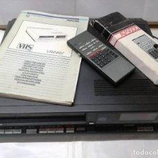 Cine: VIDEO VHS PHILIPS VR6462,CON MANDO Y LIBRO DE INSTRUCCIONES. Lote 103667247