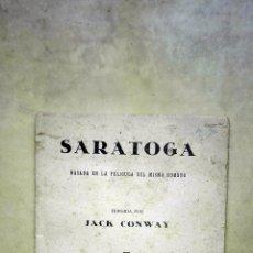 Cine: SARATOGA. PUBLICACIONES CINEMA. METRO GOLDWYN MAYER IBERICA. . Lote 106177359