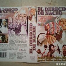 Cine: CARATULA ORIGINAL -A4- EL DERECHO DE NACER - CINE MEXICANO - ARCHIVO - AURORA BAUTISTA. Lote 108353015
