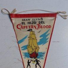 Cine: EL HIJO DEL CAPITAN BLOOD - SEAN FLYNN - RARO BANDERIN DE TELA DEL AÑO 1962. Lote 108903103