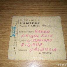 Cine: ALBORAIA (VALENCIA) CARNET DE SOCIO DE CINE-CLUB. AÑOS 70. Lote 109301547