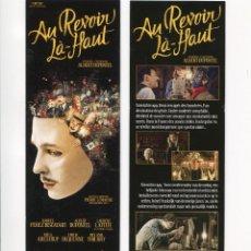 Cinema: AU REVOIR LÀ-HAUT, DE PIERRE LEMAITRE. MARCAPÁGINAS.. Lote 109735435