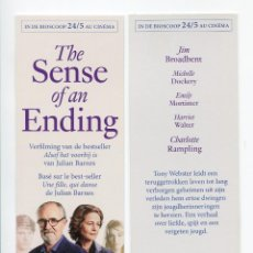 Cinema: THE SENSE OF AN ENDING, DE RITESH BATRA. MARCAPÁGINAS.. Lote 109739643