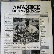Cine: PERIÓDICO AMANECE QUE NO ES POCO - MUY RARO - DE COLECCIÓN. Lote 111301467