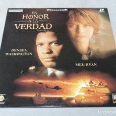 Cine: EN HONOR A LA VERDAD - LASER DISC PAL . Lote 112086447