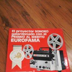 Cine: TRÍPTICO PUBLICITARIO PROYECTOR EUMIG. Lote 112155828