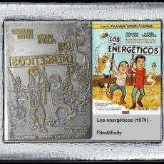 Cine: PLANCHA METÁLICA USADA PARA IMPRIMIR FOLLETOS DE CARATULAS DEL FILM : LOS ENERGÉTICOS (1979) - FILMA. Lote 112713591