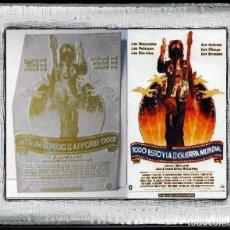 Cine: PLANCHA METÁLICA USADA PARA CARATULAS DEL FILM TODO ESTO Y LA SEGUNDA GUERRA MUNDIAL (1976) BEATLES. Lote 112741443