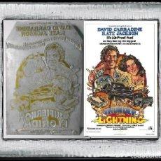 Cine: PLANCHA METÁLICA USADA PARA IMPRIMIR FOLLETOS DE CARATULAS DEL FILM : INFIERNO EN FLORIDA (1977). Lote 112846347