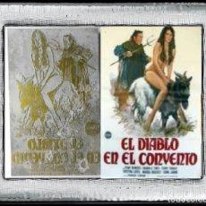 Cine: PLANCHA METÁLICA USADA PARA IMPRIMIR FOLLETOS DE CARATULAS DEL FILM : EL DIABLO EN EL CONVENTO (1973. Lote 112848283