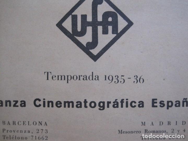 Cine: MANUAL PUBLICIDAD UFA -ALIANZA CINEMATOGRAFICA ESPAÑOLA -AÑO 1935- 36 -VER FOTOS-(V-13.753) - Foto 3 - 114798639