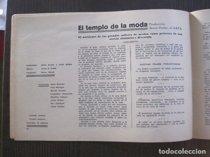 Cine: MANUAL PUBLICIDAD UFA -ALIANZA CINEMATOGRAFICA ESPAÑOLA -AÑO 1935- 36 -VER FOTOS-(V-13.753) - Foto 15 - 114798639