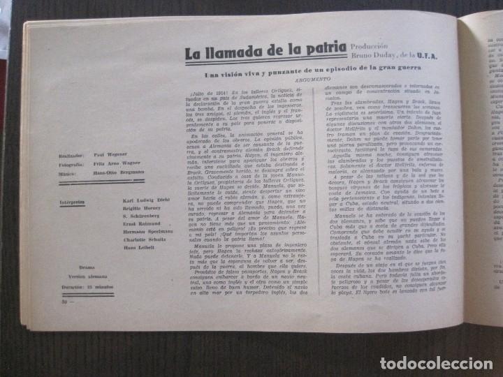 Cine: MANUAL PUBLICIDAD UFA -ALIANZA CINEMATOGRAFICA ESPAÑOLA -AÑO 1935- 36 -VER FOTOS-(V-13.753) - Foto 16 - 114798639
