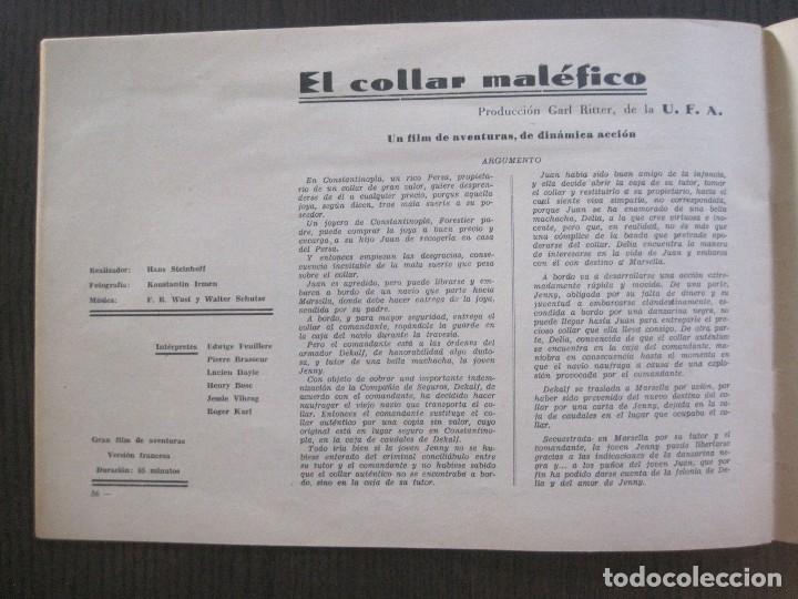 Cine: MANUAL PUBLICIDAD UFA -ALIANZA CINEMATOGRAFICA ESPAÑOLA -AÑO 1935- 36 -VER FOTOS-(V-13.753) - Foto 19 - 114798639