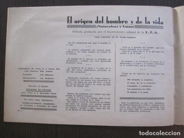 Cine: MANUAL PUBLICIDAD UFA -ALIANZA CINEMATOGRAFICA ESPAÑOLA -AÑO 1935- 36 -VER FOTOS-(V-13.753) - Foto 20 - 114798639