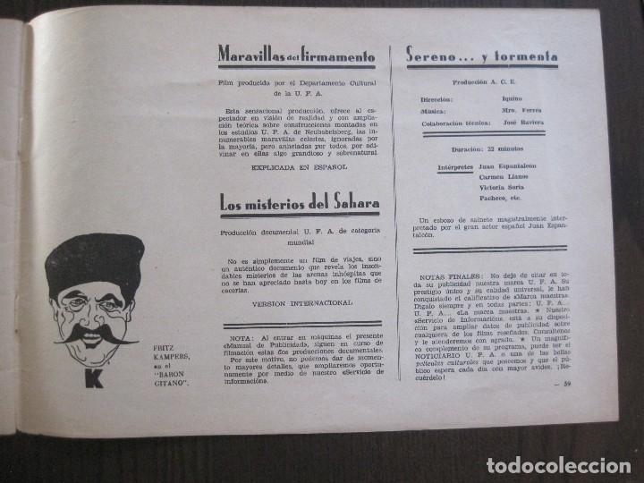 Cine: MANUAL PUBLICIDAD UFA -ALIANZA CINEMATOGRAFICA ESPAÑOLA -AÑO 1935- 36 -VER FOTOS-(V-13.753) - Foto 21 - 114798639