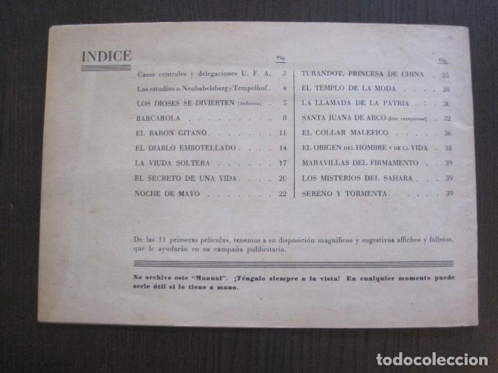 Cine: MANUAL PUBLICIDAD UFA -ALIANZA CINEMATOGRAFICA ESPAÑOLA -AÑO 1935- 36 -VER FOTOS-(V-13.753) - Foto 22 - 114798639