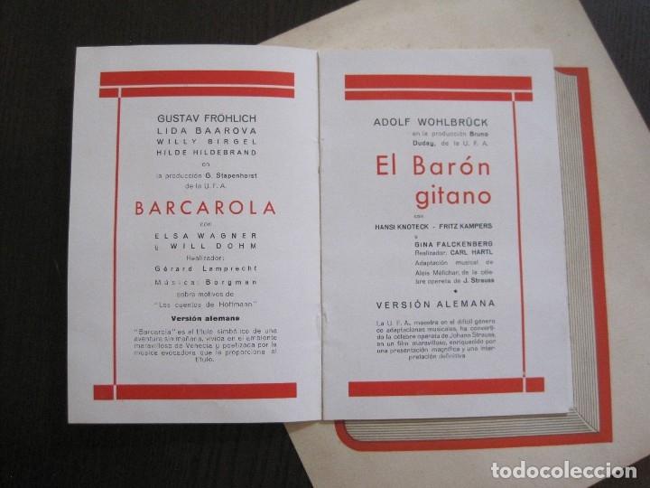 Cine: PUBLICIDAD UFA -ALIANZA CINEMATOGRAFICA ESPAÑOLA-PELICULAS AÑO 1935- 36 -VER FOTOS-(V-13.754) - Foto 5 - 114799619