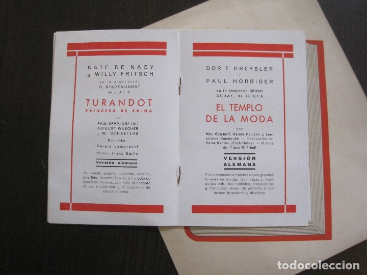 Cine: PUBLICIDAD UFA -ALIANZA CINEMATOGRAFICA ESPAÑOLA-PELICULAS AÑO 1935- 36 -VER FOTOS-(V-13.754) - Foto 8 - 114799619