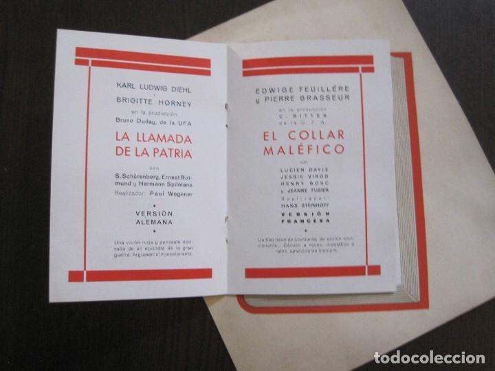 Cine: PUBLICIDAD UFA -ALIANZA CINEMATOGRAFICA ESPAÑOLA-PELICULAS AÑO 1935- 36 -VER FOTOS-(V-13.754) - Foto 9 - 114799619