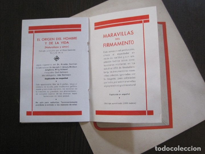 Cine: PUBLICIDAD UFA -ALIANZA CINEMATOGRAFICA ESPAÑOLA-PELICULAS AÑO 1935- 36 -VER FOTOS-(V-13.754) - Foto 11 - 114799619