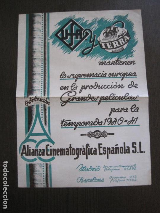 PUBLICIDAD UFA -ALIANZA CINEMATOGRAFICA ESPAÑOLA-PELICULAS AÑO 1940-41 -VER FOTOS-(V-13.755) (Cine - Varios)