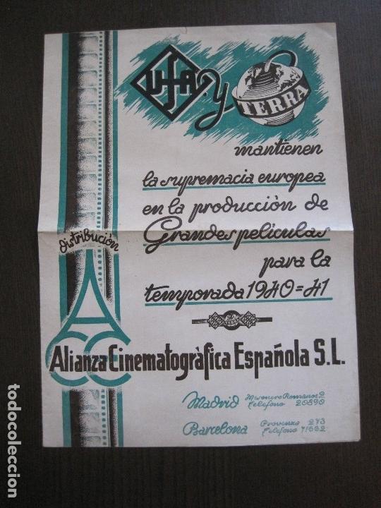 Cine: PUBLICIDAD UFA -ALIANZA CINEMATOGRAFICA ESPAÑOLA-PELICULAS AÑO 1940-41 -VER FOTOS-(V-13.755) - Foto 2 - 114801591