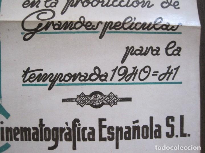 Cine: PUBLICIDAD UFA -ALIANZA CINEMATOGRAFICA ESPAÑOLA-PELICULAS AÑO 1940-41 -VER FOTOS-(V-13.755) - Foto 3 - 114801591