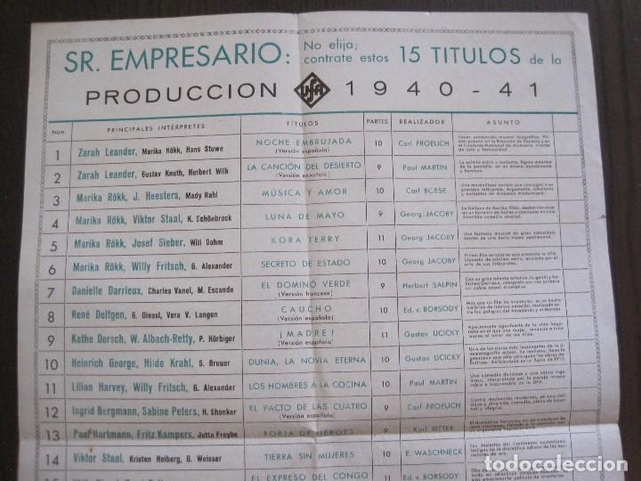 Cine: PUBLICIDAD UFA -ALIANZA CINEMATOGRAFICA ESPAÑOLA-PELICULAS AÑO 1940-41 -VER FOTOS-(V-13.755) - Foto 5 - 114801591
