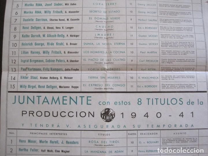 Cine: PUBLICIDAD UFA -ALIANZA CINEMATOGRAFICA ESPAÑOLA-PELICULAS AÑO 1940-41 -VER FOTOS-(V-13.755) - Foto 6 - 114801591