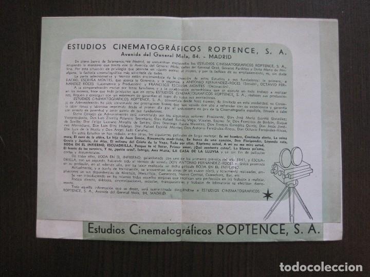 Cine: PUBLICIDAD roptence s.a. - ESTUDIOS CINEMATOGRAFICOS -VER FOTOS-(V-13.757) - Foto 3 - 114803683