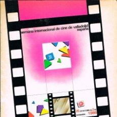 Cine: FESTIVAL INTERNACIONAL DE CINE DE VALLADOLID AÑO 1986 LIBRO PROGRAMACION Y FICHA DE CADA PELICULA. Lote 115185991