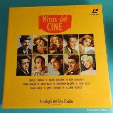 Cine: CARPETA CON 10 LÁSER DISC MITOS DEL CINE. INGRID BARGMAN, RITA HAYWORTH, BETTE DAVIS, MARILYN MONROE. Lote 120746143