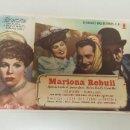 Cine: 1018- PROGRAMA CINE MARIONA REBULL -SAENZ DE HEREDIA- TEATRO ROSALIA CASTRO CORUÑA AÑOS 40-50. Lote 121046547