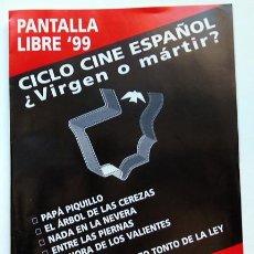 Cine: CINE DON BOSCO IBI ALICANTE CICLO ESPAÑOL ¿VIRGEN O MÁRTIR.? AÑO 1999 CUADRIPTICO. Lote 121813583